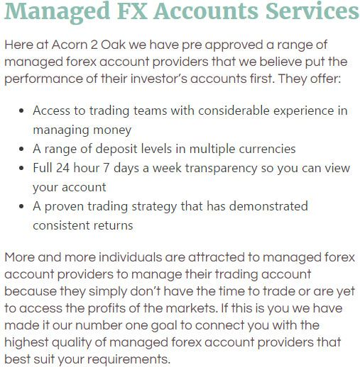 Pre Approved Managed Forex Account Providers
