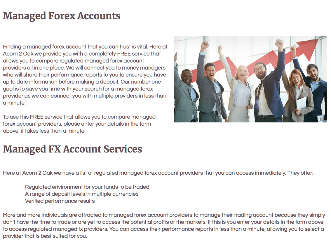 Uncovering A Reliable And Honest British Managed Fx Account Provider In The Uk Is So Important We Offer You Service At Acorn2oak That Free To Use